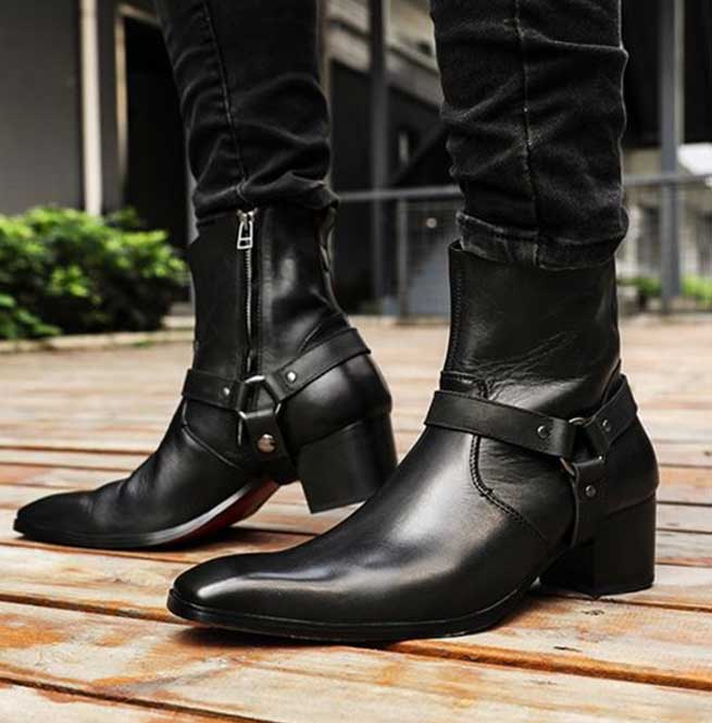 Men ankle Boots Handmade Men Wingtip Boots Men Suede And Leather Ankle Boots