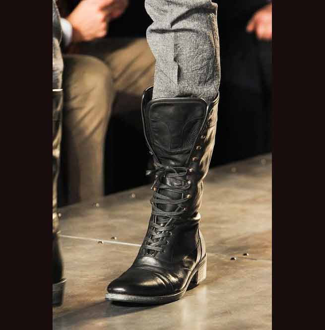 New Military Style Leather Boots