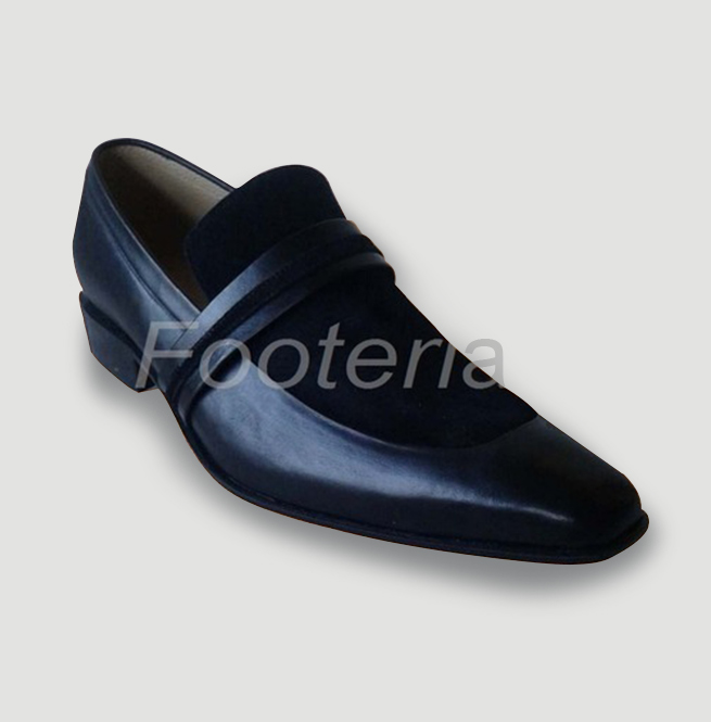 Handmade Black Suede Leather Shoes