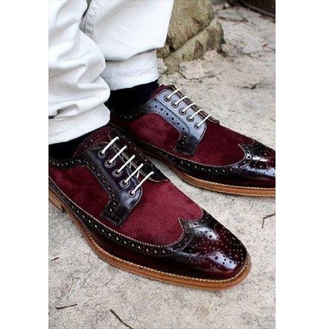 Handmade Men Maroon Leather Shoes